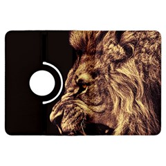 Angry Male Lion Gold Kindle Fire Hdx Flip 360 Case