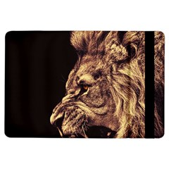 Angry Male Lion Gold Ipad Air Flip