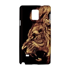Angry Male Lion Gold Samsung Galaxy Note 4 Hardshell Case