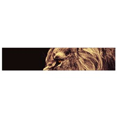 Angry Male Lion Gold Small Flano Scarf