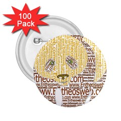 Panda Typography 2 25  Buttons (100 Pack)