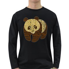 Panda Typography Long Sleeve Dark T Shirts