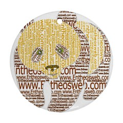 Panda Typography Round Ornament (two Sides)