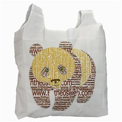 Panda Typography Recycle Bag (one Side)