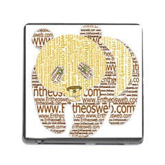 Panda Typography Memory Card Reader (square)
