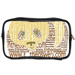 Panda Typography Toiletries Bags 2 Side
