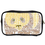 Panda Typography Toiletries Bags 2-Side Front