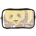 Panda Typography Toiletries Bags 2-Side Back