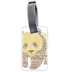 Panda Typography Luggage Tags (one Side)