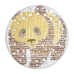 Panda Typography Round Filigree Ornament (two Sides)