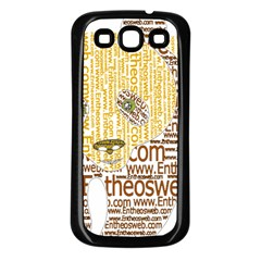 Panda Typography Samsung Galaxy S3 Back Case (black)