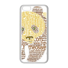 Panda Typography Apple Iphone 5c Seamless Case (white)