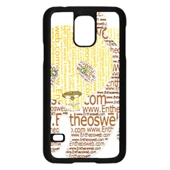Panda Typography Samsung Galaxy S5 Case (black)