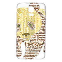 Panda Typography Samsung Galaxy S5 Back Case (white)