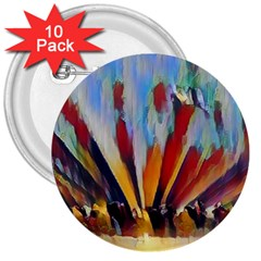 3abstractionism 3  Buttons (10 Pack)