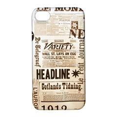 Vintage Newspapers Headline Typography Apple Iphone 4/4s Hardshell Case With Stand
