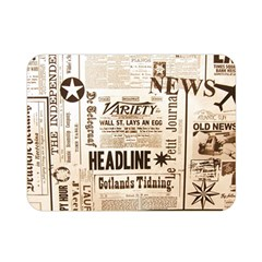 Vintage Newspapers Headline Typography Double Sided Flano Blanket (mini)