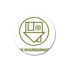 The Neighbourhood Logo Magnet 3  (round)