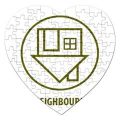 The Neighbourhood Logo Jigsaw Puzzle (heart)