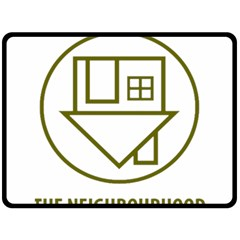 The Neighbourhood Logo Double Sided Fleece Blanket (large)