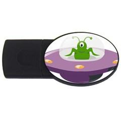 Ufo Usb Flash Drive Oval (4 Gb)