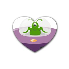 Ufo Rubber Coaster (heart)