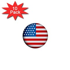 United Of America Usa Flag 1  Mini Buttons (10 Pack)