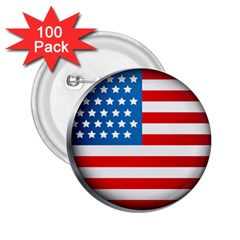 United Of America Usa Flag 2 25  Buttons (100 Pack)