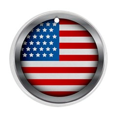 United Of America Usa Flag Round Ornament (two Sides)