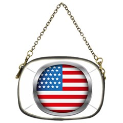 United Of America Usa Flag Chain Purses (two Sides)
