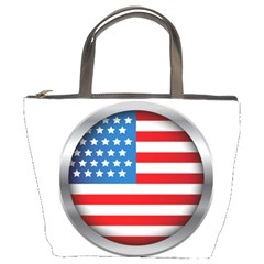 United Of America Usa Flag Bucket Bags