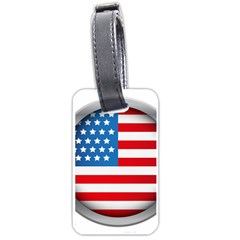 United Of America Usa Flag Luggage Tags (one Side)