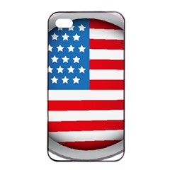 United Of America Usa Flag Apple Iphone 4/4s Seamless Case (black)