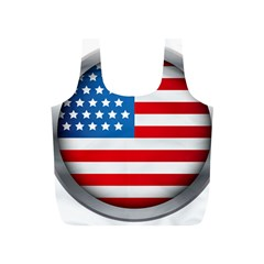 United Of America Usa Flag Full Print Recycle Bags (s)
