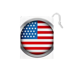 United Of America Usa Flag Drawstring Pouches (small)