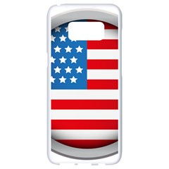 United Of America Usa Flag Samsung Galaxy S8 White Seamless Case