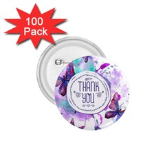 Thank You 1 75  Buttons (100 Pack)