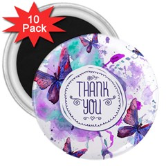 Thank You 3  Magnets (10 Pack)