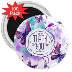 Thank You 3  Magnets (100 Pack)
