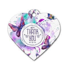 Thank You Dog Tag Heart (two Sides)
