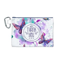 Thank You Canvas Cosmetic Bag (m)