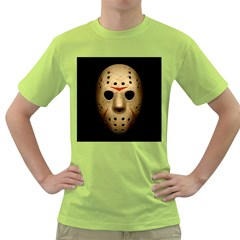 Jason Hockey Goalie Mask Green T Shirt