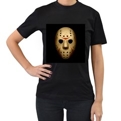 Jason Hockey Goalie Mask Women s T Shirt (black) (two Sided)