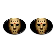 Jason Hockey Goalie Mask Cufflinks (oval)