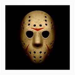 Jason Hockey Goalie Mask Medium Glasses Cloth