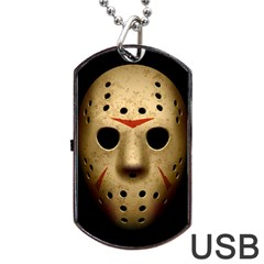 Jason Hockey Goalie Mask Dog Tag Usb Flash (two Sides)