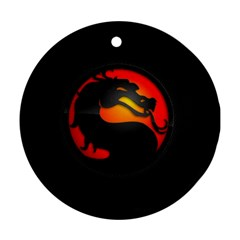Dragon Round Ornament (two Sides)