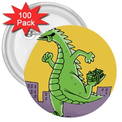 Dragon 3  Buttons (100 Pack)