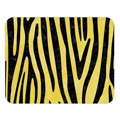 Skin4 Black Marble & Yellow Watercolor (r) Double Sided Flano Blanket (large)