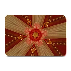 Red Star Ribbon Elegant Kaleidoscopic Design Plate Mats